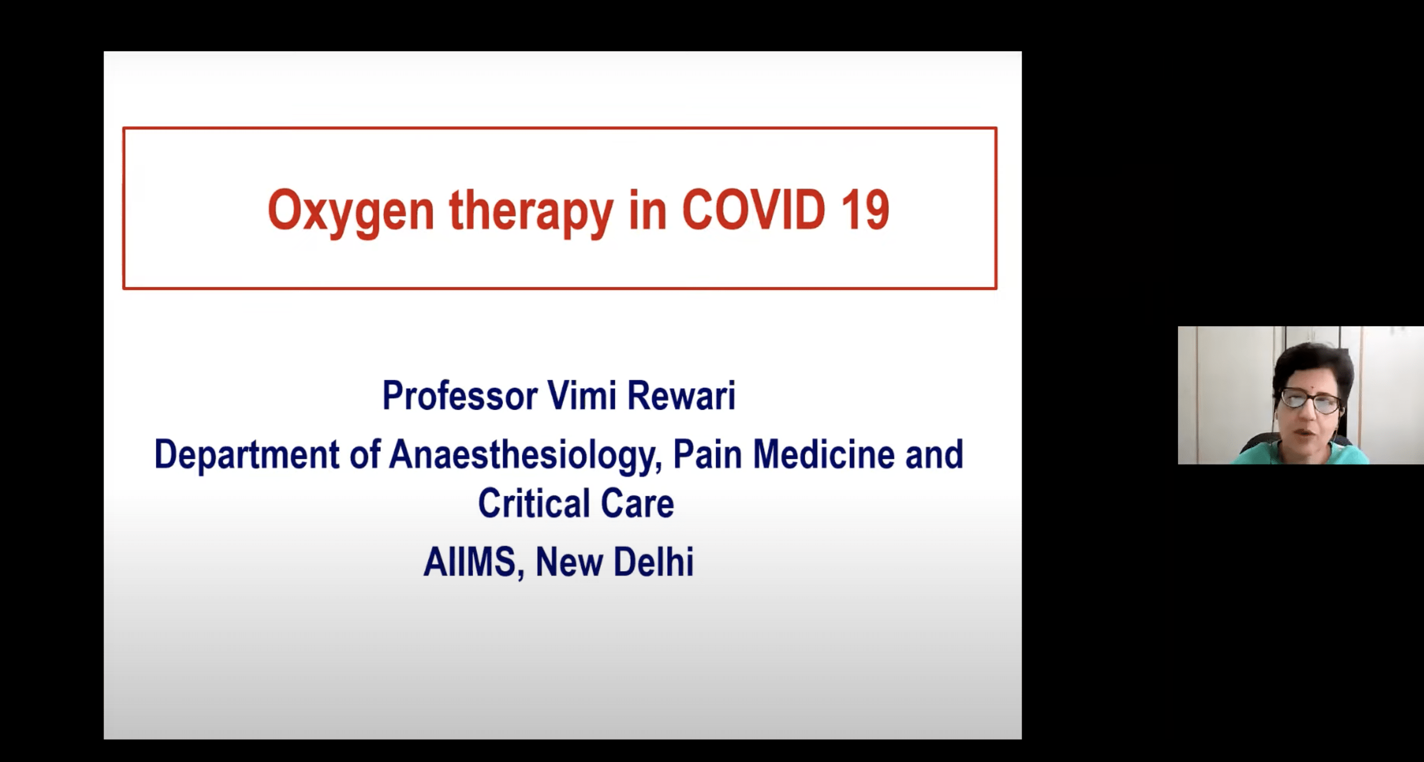 Oxygen Therapy without invasive ventilation